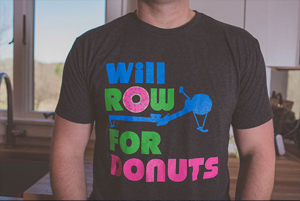 """Will Row For Donuts"" - Mens Tee"