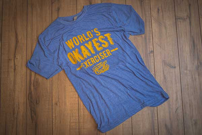 """World's OKAYEST Exerciser"" - Mens Tee"