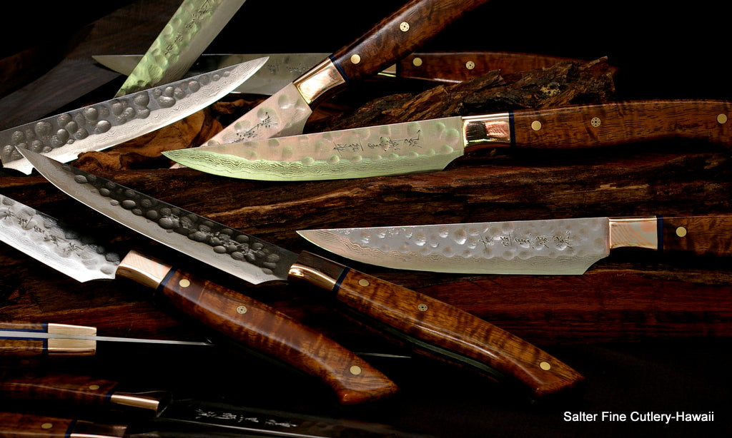 Hand-forged Stainless Steel Steak Knives Salter Fine Cutlery