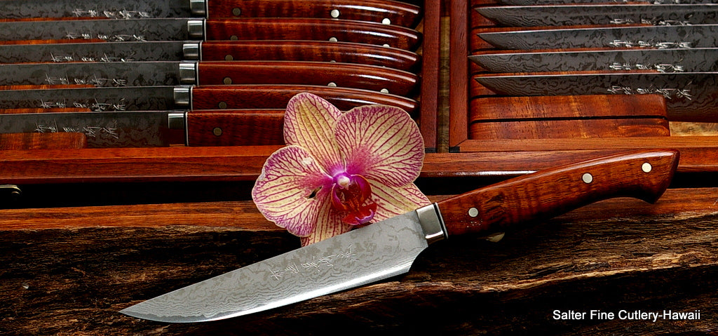 Handmade artisan made luxury steak knives by Salter Fine Cutlery