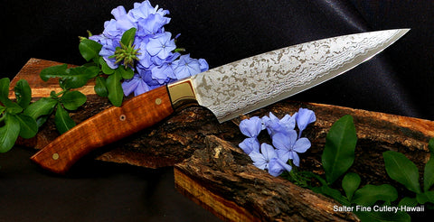 Western style full-tang 160mm  small stainless steel damascus chef knife