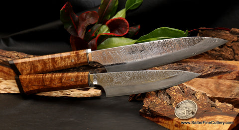 Beautiful handmade luxury chef knives from Salter Fine Cutlery of Hawaii