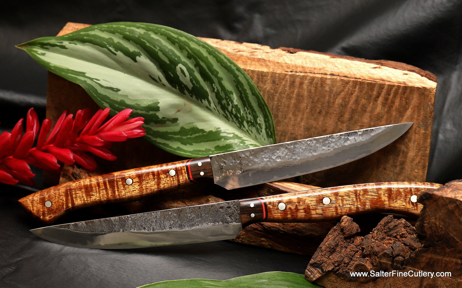 The Salter classic design steak knife with new Magma design finish custom made by and for Salter Fine Cutlery of Hawaii