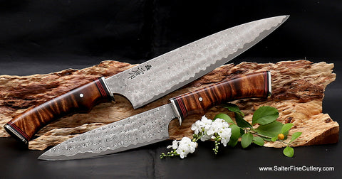 Charybdis design series chef knives with extra decorative handles from Salter Fine Cutlery