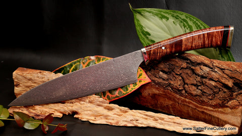 210mm beautiful handmade Japanese chef knife from Salter Fine Cutlery