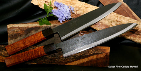 270mm shirogami carbon steel Japanese chef knives with kiawe wood handles