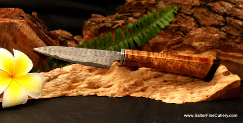 Paring knife or coolest bar knife for the man cave from Salter Fine Cutlery of Hawaii