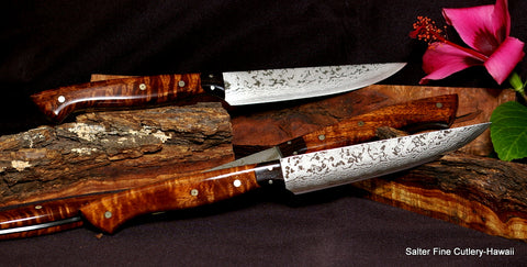 Handforged best quality steak knives Hawaiian gifts by Salter Fine Cutlery