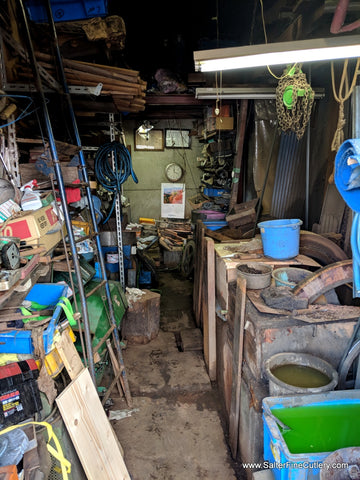 Inside this small traditional grinding workshop, magic happens.