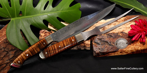 Charybdis collectible handmade carving set for luxury living by Salter Fine Cutlery