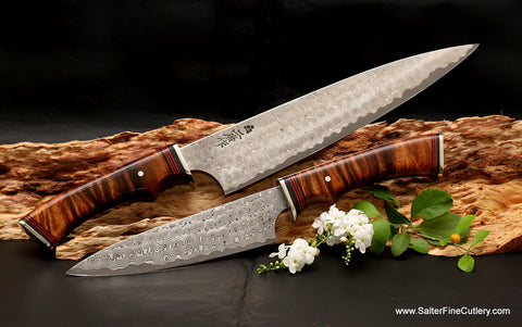 Custom luxury cutlery for gourmet kitchens or professional chefs handmade by Salter Fine Cutlery of Hawaii