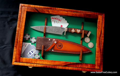 Combat Chef MkII collectible knife in custom wall display box from Salter Fine Cutlery