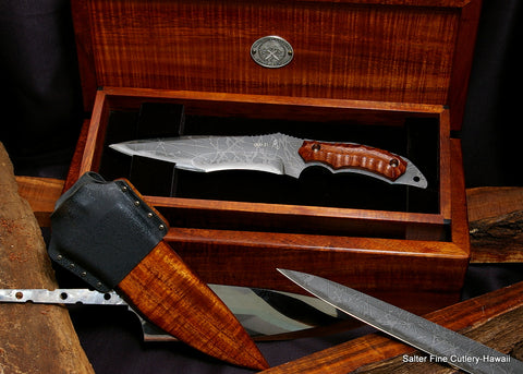 Collectible Horsa knife set in presentation box by Kiku Matsuda and Salter Fine Cutlery