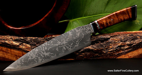 Collectible rare collaboration knife by Gregg Salter and Kiku available exclusively from Salter Fine Cutlery of Hawaii