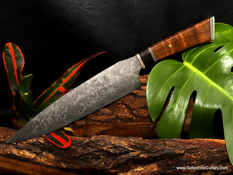 Collectible MkII Limited Edition Kiku-Salter knife with choice of stand or keepsake box by Salter Fine Cutlery
