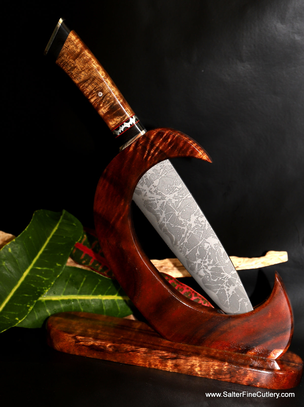 MkII Ltd Edition collectible knife with blade by Kiku from Gregg Salter of Salter Fine Cutlery Hawaii