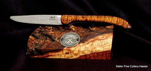 Folding steak/dinner knife for collectors, picnics, or camping makes a perfect gift