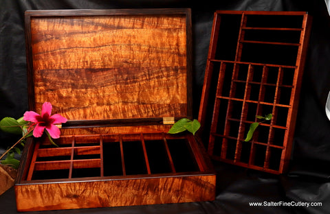 Men's XL-Plus Jewelry Box includes added custom design features