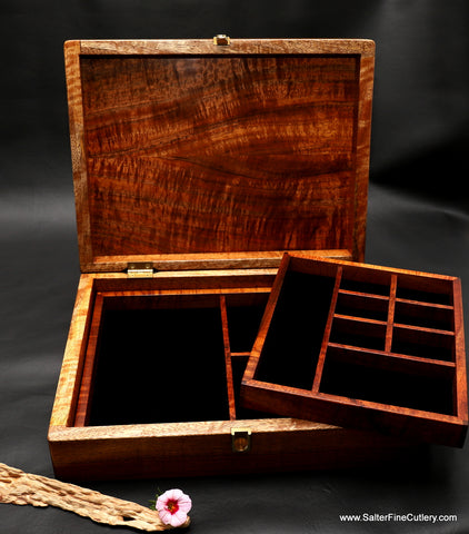 Custom jewelry boxes made to order for ladies or men