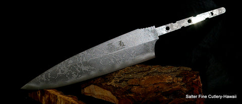Special Kiku-Salter collaboration knife blade offered by Salter Fine Cutlery