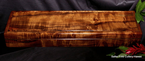 Beautiful handcrafted Hawaiian koa wood box by Salter Fine Cutlery