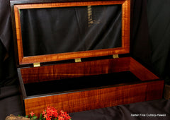 Extra Large display box to hold wedding album handcrafted in Hawaii by Salter Fine Cutlery and Woodworking