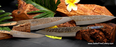 Exclusive raptor design series of chef knives can be made with your choice of handle by Salter Fine Cutlery