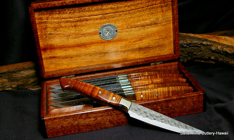 Unique beautiful highest quality steak knives in gift box by Salter Fine Cutlery