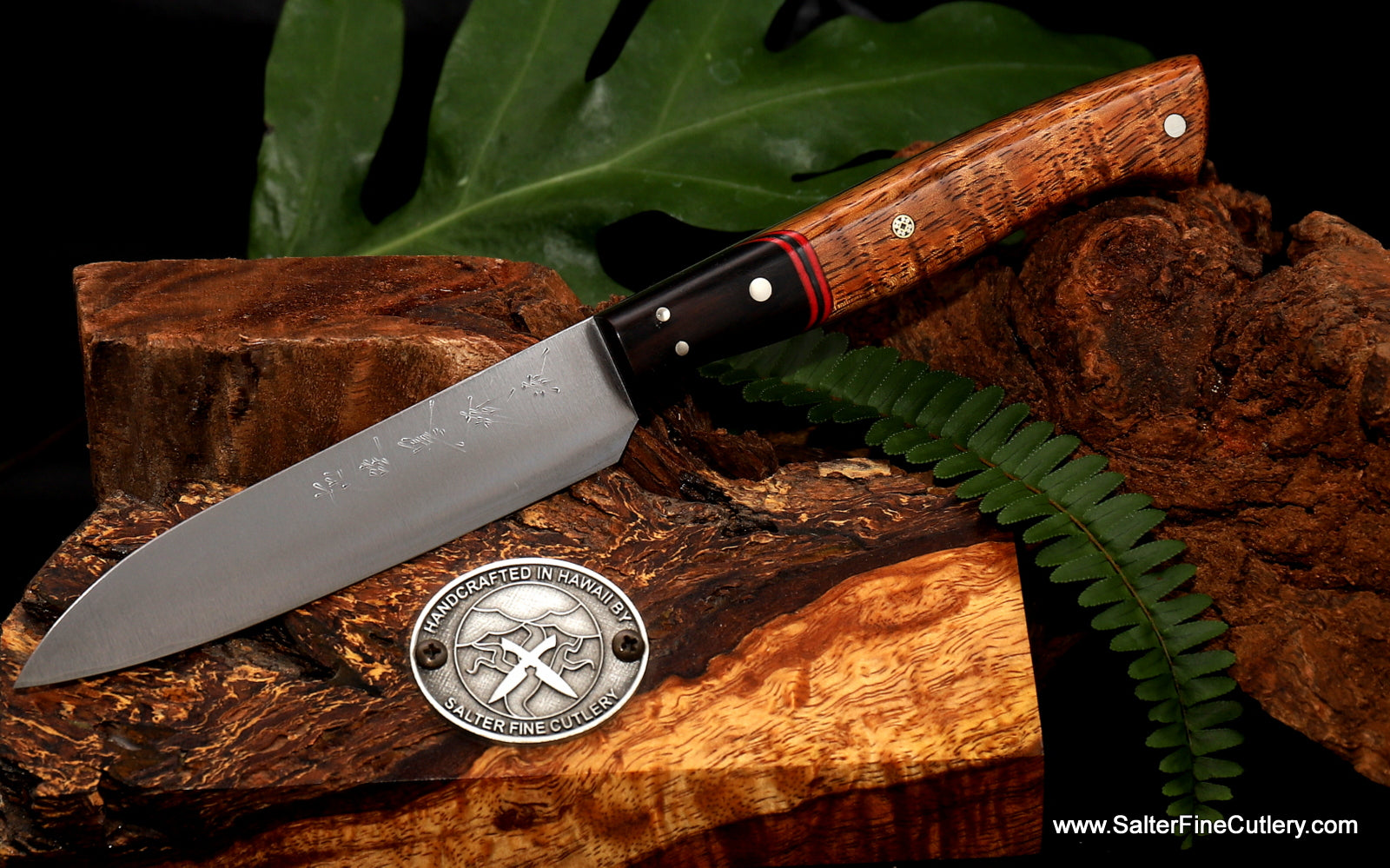 110mm paring or small utility knife with hand-forged blade from Salter Fine Cutlery of Hawaii