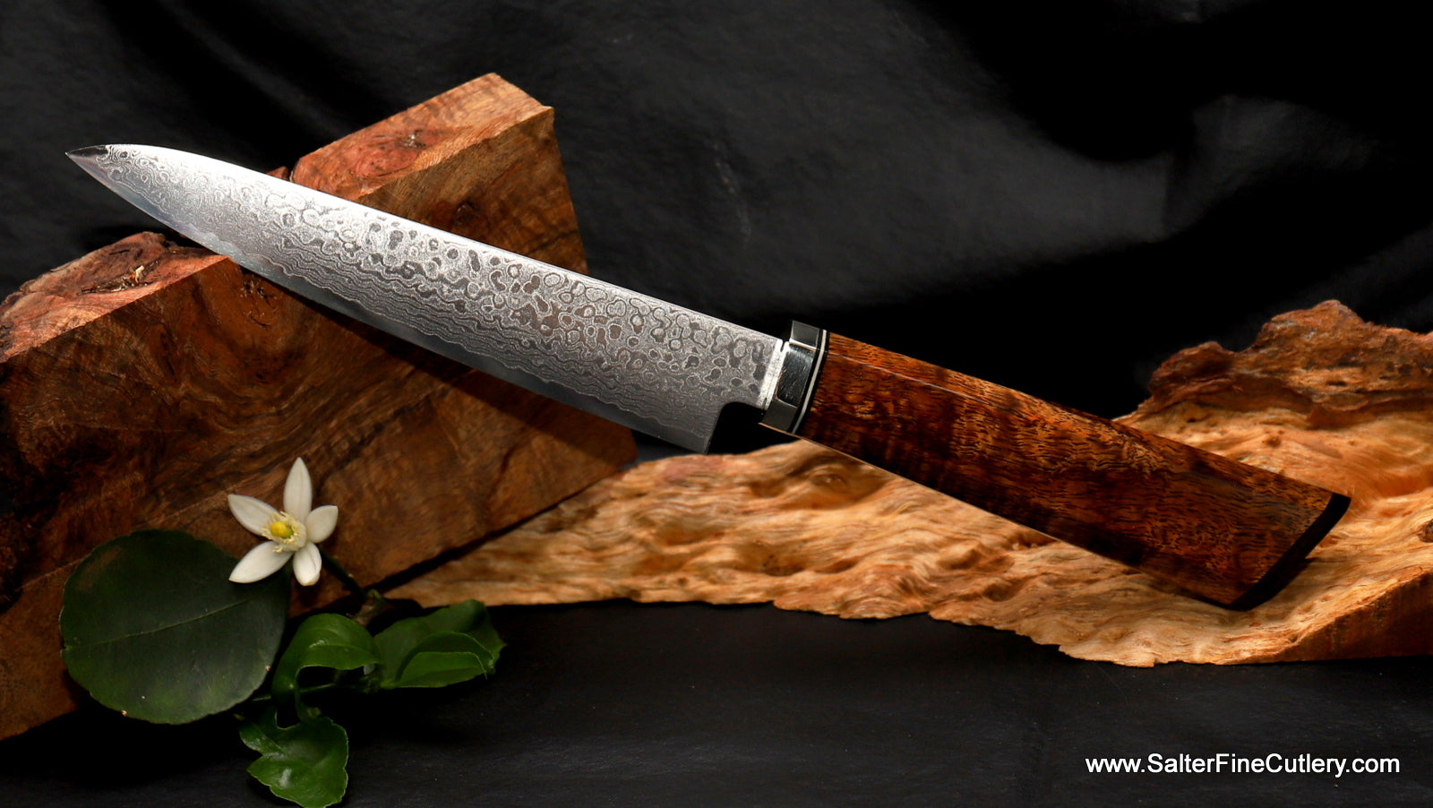 In Stock Item: 150mm Utility Kitchen Knife with 69-Layer Polished Damascus Blade