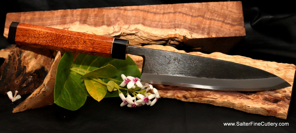 In Stock Item: 180mm Gyuto with Black Matte Blade