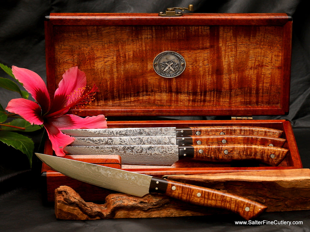 4-pc damascus new model classic series by Salter Fine Cutlery of Hawaii