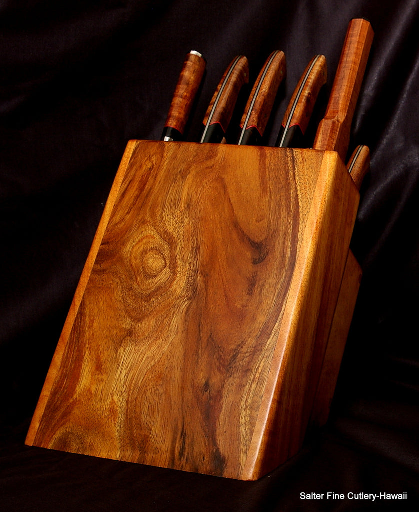 Custom handmade knife block stand to fit 10 piece chef knife set