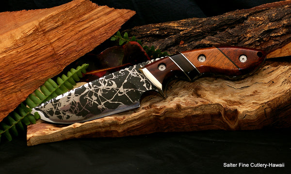 Kiku-Salter collectible 135mm hunting knife from Salter Fine Cutlery