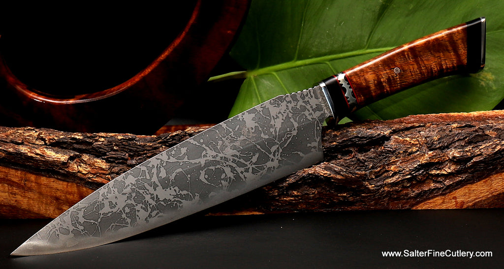 Limited Edition MkII Collectible knife Kiku and Gregg Salter Collaboration from Salter Fine Cutlery of Hawaii