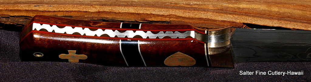Hunting knife detail Handcrafted by Salter Fine Cutlery