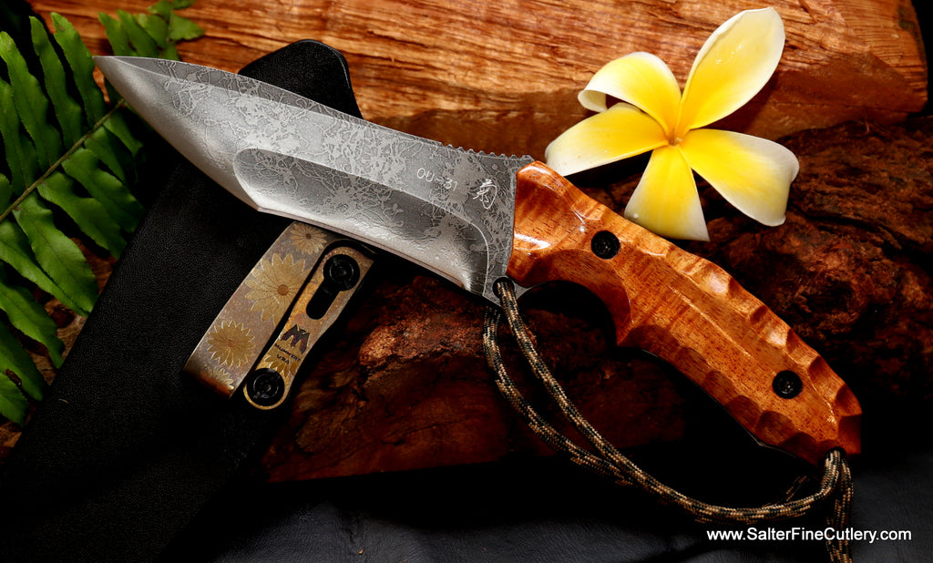 Hunting Knife Kiku Salter collaboration knife by Salter Fine Cutlery