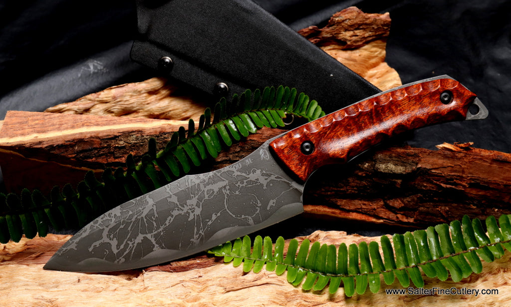 Hunting and Camp Chef Knife blade by Kiku from Salter Fine Cutlery of Hawaii