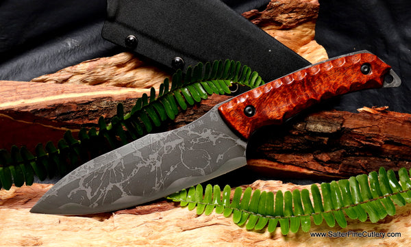 Camp or Hunting Knife Kiku Matsuda Kiawe handle by Salter Fine Cutlery
