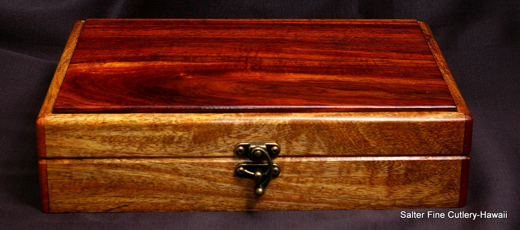 Keepsake box with contrasting koa wood lid