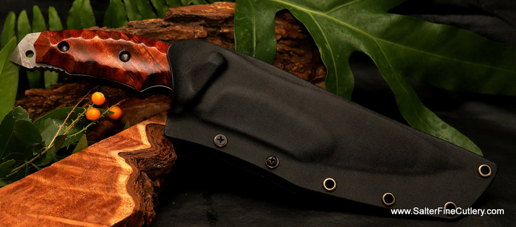 Kiku-Salter hunting knife in kydex sheath 190mm blade from Salter Fine Cutlery