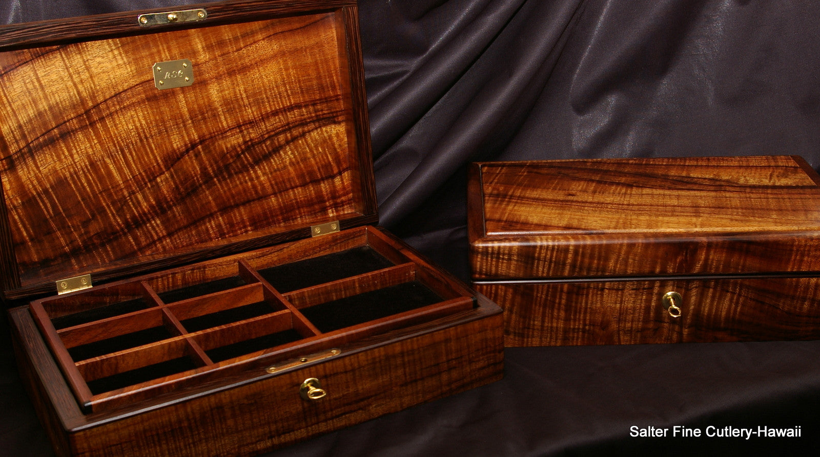 Salter Fine Cutlery custom order mens or ladies jewelry boxes