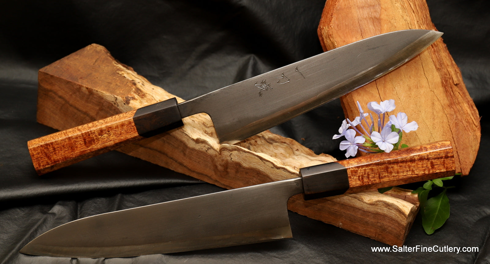 In Stock Item: 210mm Gyuto with Black Matte Blade