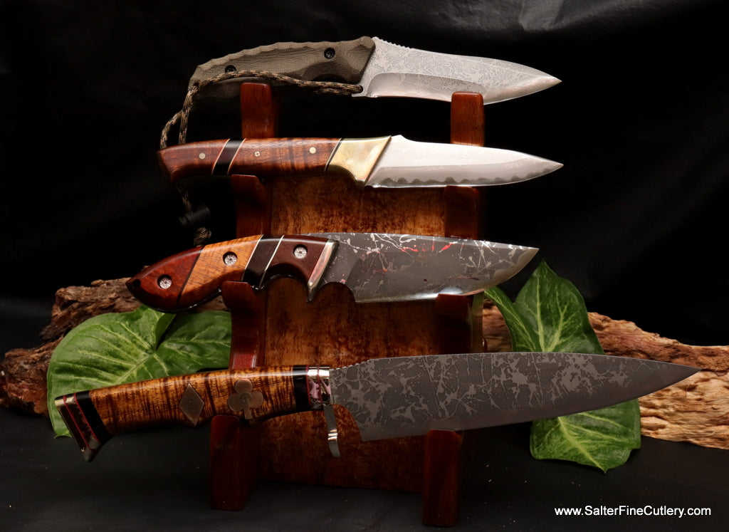 Pagoda Stand-double sided to hold up to 7 hunting or pocket knives