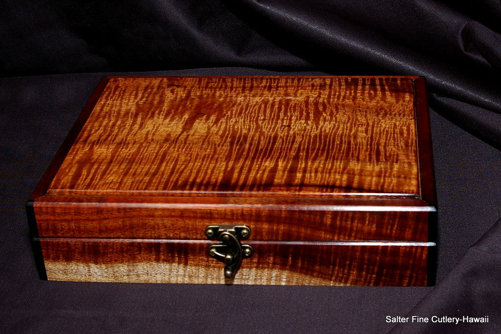 Handcrafted keepsake box by Salter Fine Cutlery