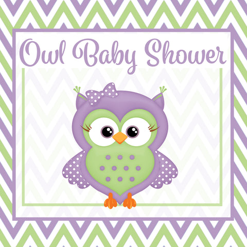 Purple & Green Owl