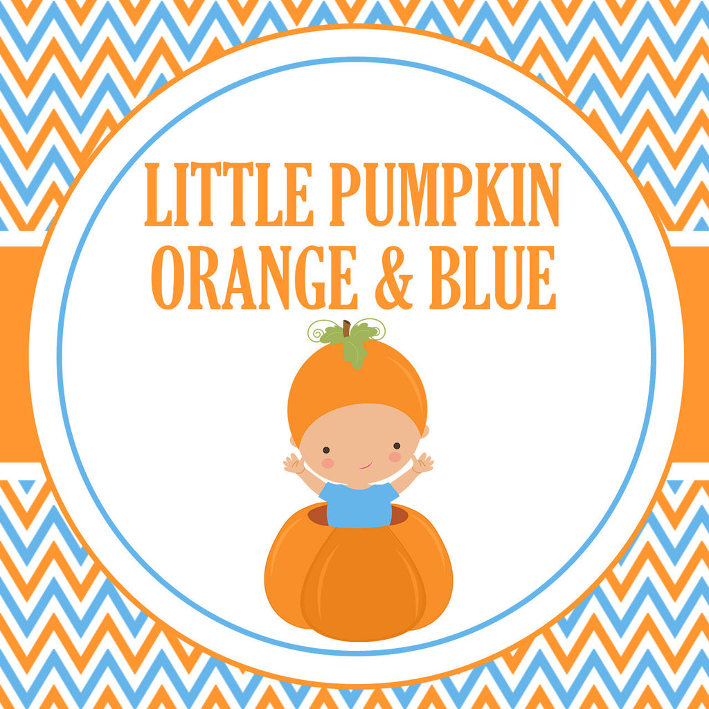 B21002 Orange & Blue Little Pumpkin Theme