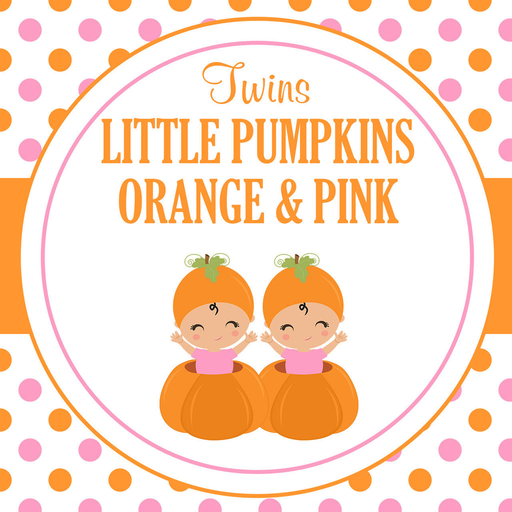 B21005 Pink & Orange Twins Little Pumpkin Theme