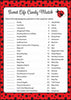 Sweet Life Candy Match Game - Printable Download - Red Black Ladybug Baby Shower Game - B10002