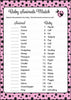 Baby Animals Match Game - Printable Download - Pink Black Ladybug Baby Shower Game - B10003